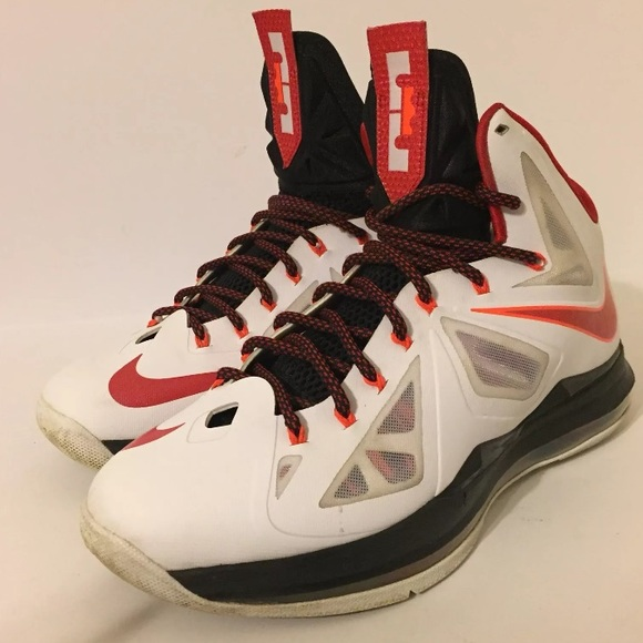 separation shoes 15248 02252 Nike Lebron X 10 Miami Heat Home Size 9.5. M 5a1374faf739bcfaf10093be