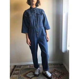 [vintage] denim coverall/jumpsuit