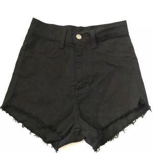 Windsor Black Super High Waisted Shorts