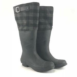 Converse Shoes - Converse tall rubber rain boots with plaid upper ff1002aae