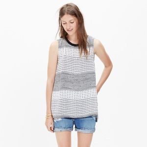Madewell Refined Tank Top in Hashtag Stripe