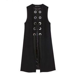 Zara Wool Grommet Vest