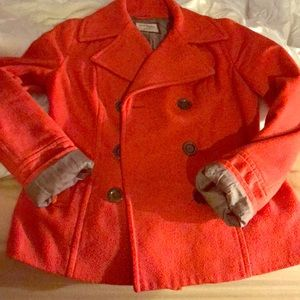 Old navy coral pea coat size small