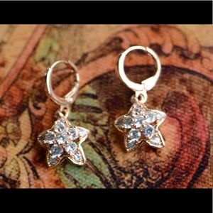 18K Gold Plated Starfish Zircon AAA Earrings