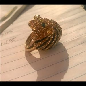 Hattie Carnagie lion head ring size 9