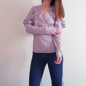 NWT Asos Lavender wrap blouse