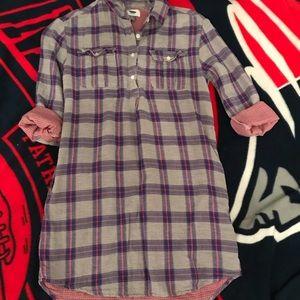 Girls purple plaid dress