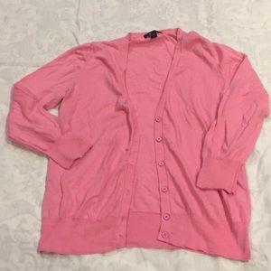 J crew pink cotton cardigan