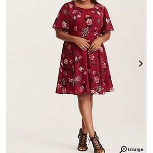 NWT torrid size 26 floral lace up dress