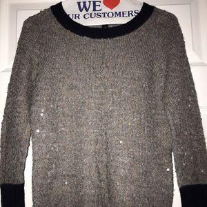 J.Crew Sequin Scoop Neck Sweater