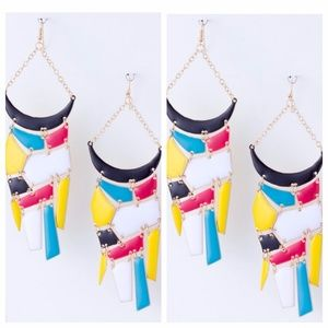 Metal Link Statement Earrings