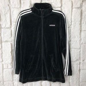 Adidas velour zip up sweater