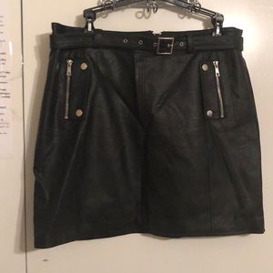 Topshop Faux Leather Mini Skirt