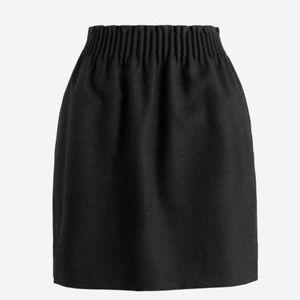 Jcrew Wool Black Skirt