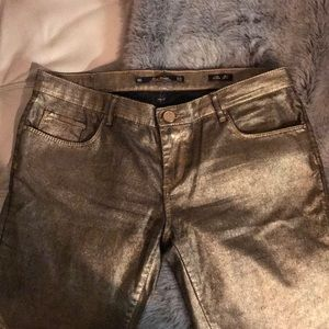 Metallic zara pants