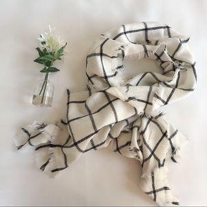 MERONA Winter Scarf White/Black
