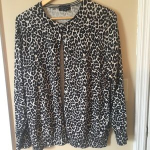 Land's End 1x Animal Print Cardigan 16-18