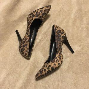 BCBG Leopard Print High Heels