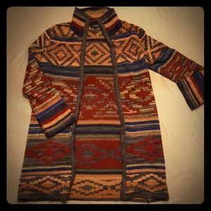 Aztec Sweater long cardigan