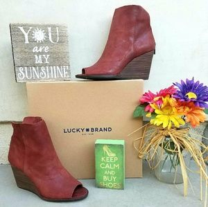 Rugged Lucky Brand Wedge Booties