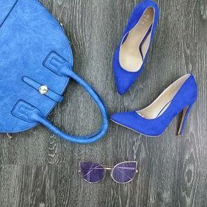 🆕Royal Blue Faux Suede Pump
