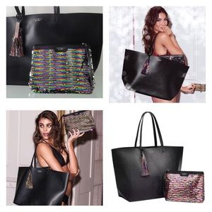 NWT! Victoria's Secret Black Friday Sequin Tote