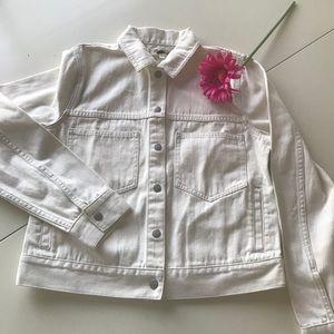 Madewell white denim jacket. NWOT