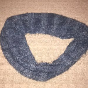 Blue scarf with tags