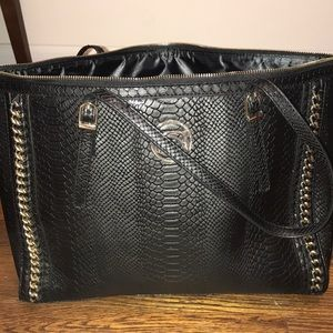 Bebe purse tote bag black