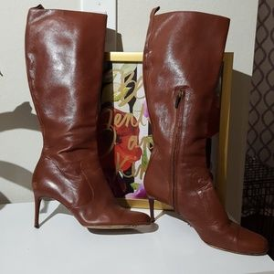 Brown leather D&G boots