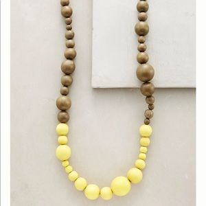 Anthropologie dipped neon necklace