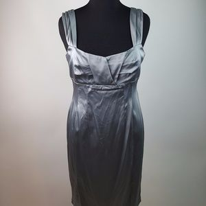 NWT Calvin Klein Silver Cocktail Dress 14 AS57