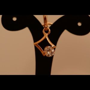 18K Gold Plated Dia Zircon AAA Designer Earrings