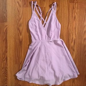 Purple criss cross dress