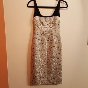 Narciso Rodriguez metallic silk dress