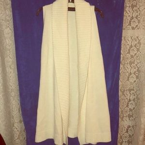 The Limited long sleeveless cardigan