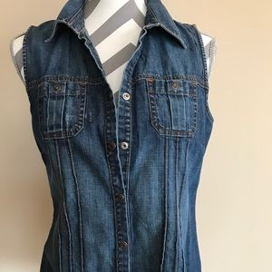 Jean perfect fit button shirt