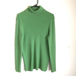 old navy green ribbed turtleneck sweater size XL