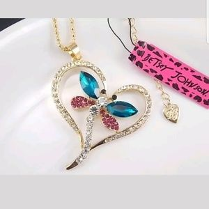 Dragonfly Pendant necklace by Betsey Johnson