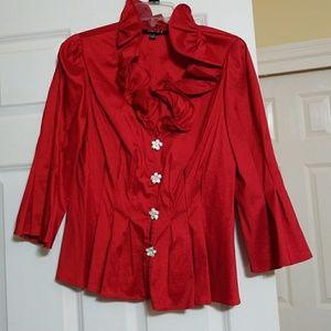 Red saten blouse/jacket