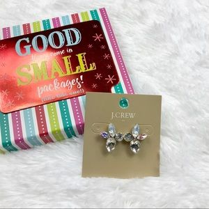 {J Crew Factory} Crystal Joker Cluster Earrings