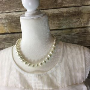 🎈 George Faux Pearl Necklace EUC