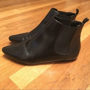 Black leather Joie chelsea boots