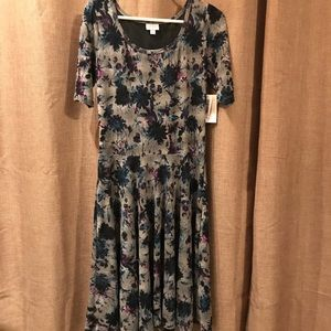 Lularoe floral print Nicole dress