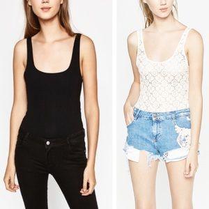 NEW Zara Set Of 2 Strappy Bodysuits