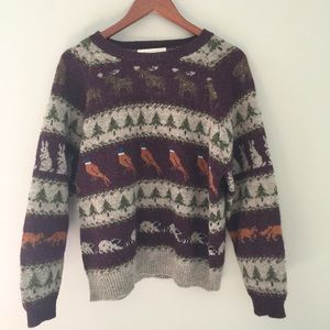 Vintage Christmas Sweater Susan Bristol Wool