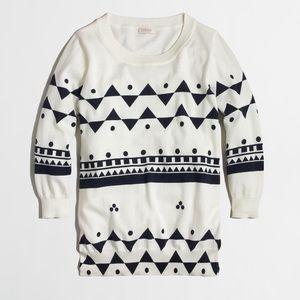 J. Crew Charley Geometric Patterned Sweater