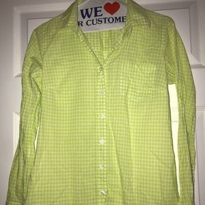 J. Crew Perfect Button Down Shirt - Gingham