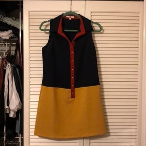 Color block a line dress