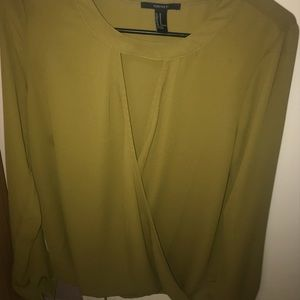 olive surplice top from forever21